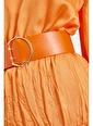 Setre Atlantis Kemerli Midi Boy Elbise Oranj